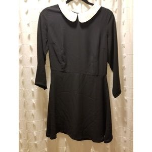 LBD with white collar - wednesday addams dress